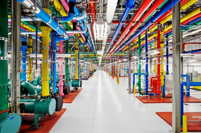 Le service Cloud Natural Language API va reposer sur les infrastructures cloud de Google comme ici dans son datacenter du comt� de Douglas en Georgie. (cr�dit : Google/Connie Zhou)