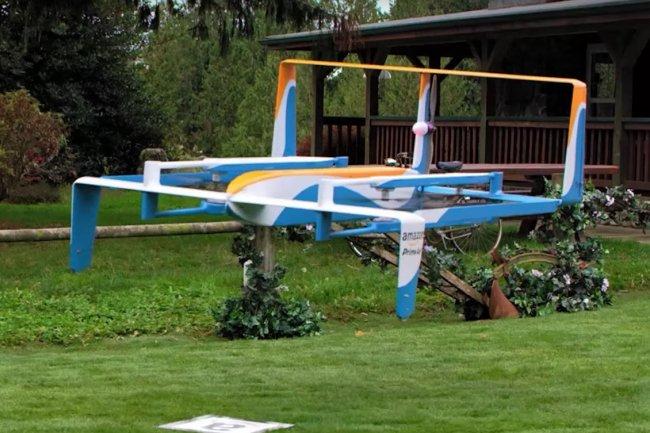 Amazon travaille sur la livraison par drone depuis 2013. (crédit : Amazon)