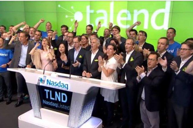L'action de l'�diteur fran�ais Talend, introduite � 18 $ au Nasdaq vendredi 29 juillet 2016, a �t� cot�e � 27,66 $ d�s l'ouverture du march�. (cr�dit : D.R.)