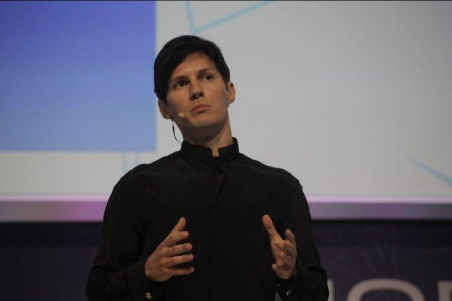 Pavel Durov, fondateur et CEO de Telegram, lors d'une intervention en février 2016 sur le Mobile World Congress de Barcelone. (crédit : GSMA)