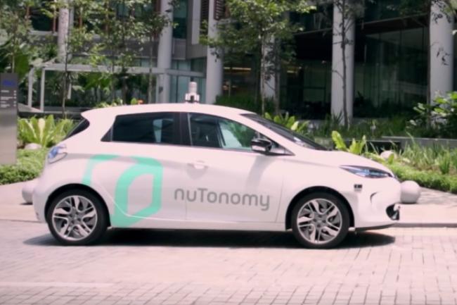 La Renault Zoé a été sélectionnée, aux côtés de la Mitsubishi i-MiEV, par la start-up NuTonomy pour servir de taxi autonome à Singapour. (crédit : D.R.)