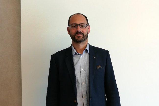 Jeremy Grinbaum, vice-président chez Box.com en charge de la France et de l'Europe du Sud, à San Francisco pour BoxWorks 2016. (crédit : Serge Leblal)