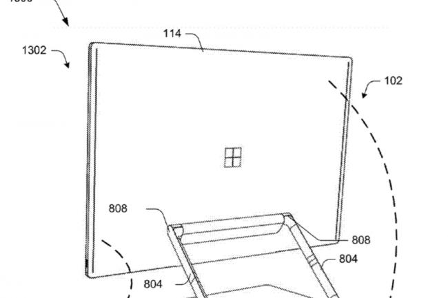 Microsoft avait d�pos� en f�vrier dernier un brevet de PC de bureau tout-en-un. (cr�dit : D.R.)