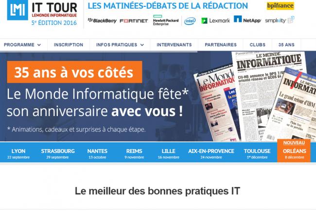 Bpifrance est partenaire de l'IT Tour, le tour de France de la rédaction du Monde Informatique. (crédit : D.R.)