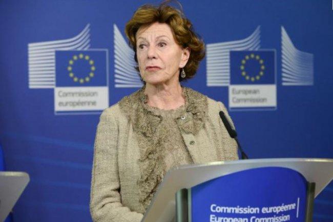 Responsable du numérique à la Commission européenne, Neelie Kroes est aujourd'hui au conseil d'administration de Salesforce.com. (crédit : D.R.)
