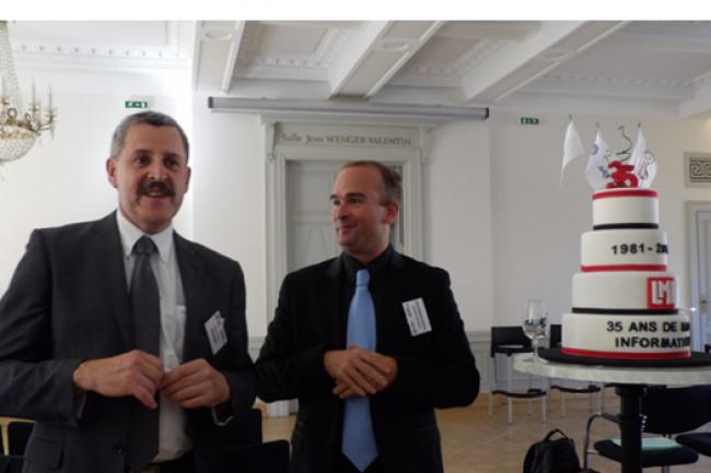 Jean-Luc Lang (président de Réseau DSI Est) venu célébrer sur l'IT Tour les 35 ans du Monde Informatique. (crédit : LMI)