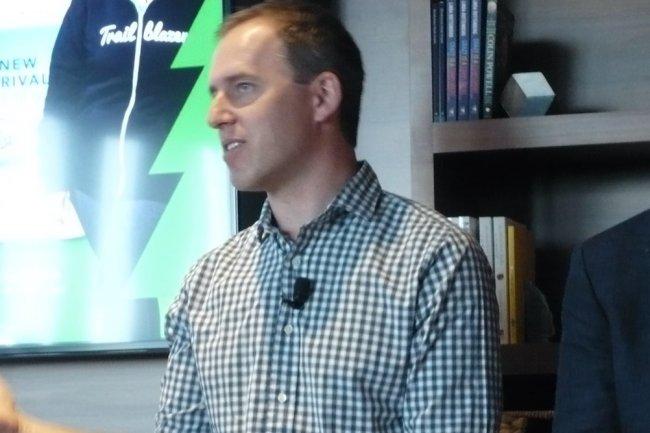 Parmi les nouvelles figures de Salesforce.com, Bret Taylor, co-fondateur de la suite bureautique Quip rachetée en août, ancien CTO de Facebook. (crédit : LMI)