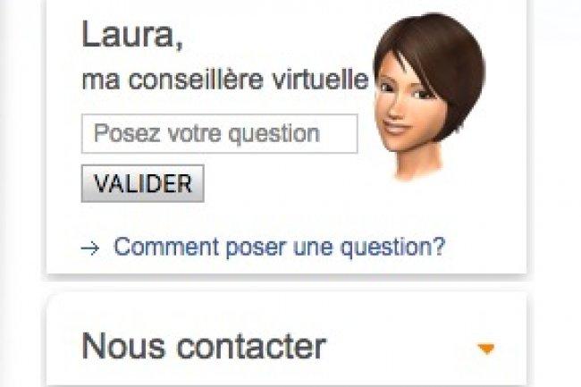 L'avatar Laura d'EDF est censé assister les clients désirant déménager.
