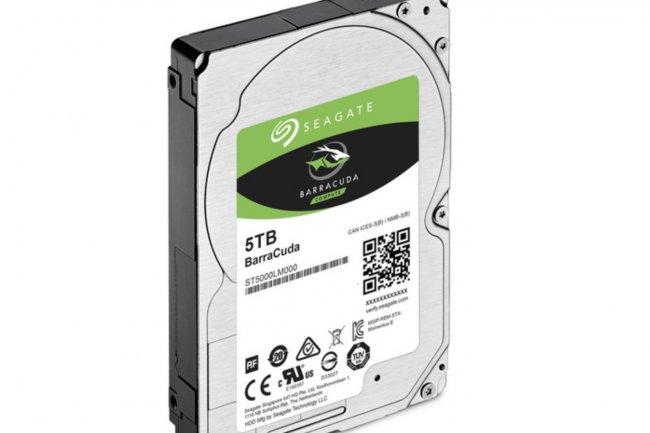 Seagate vient d'étendre la capacité de son BarraCuda ST5000 de 4 à 5 To. (crédit : D.R.)