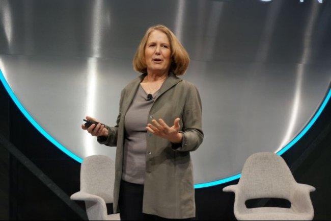 La responsable de Google Cloud, Diane Greene, lors d'une intervention sur la conférence Horizon organisée par le fournisseur à San Francisco le 29 Septembre 2016. (crédit : Blair Hanley Frank)