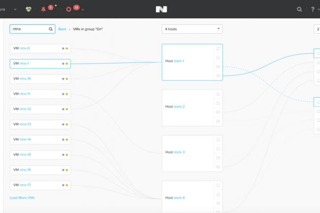AOS 5.0 peut remonter dans Prism des informations réseau glanées auprès des équipements des fournisseurs, pour aider les administrateurs à mieux gérer son réseau. (Crédit Nutanix)