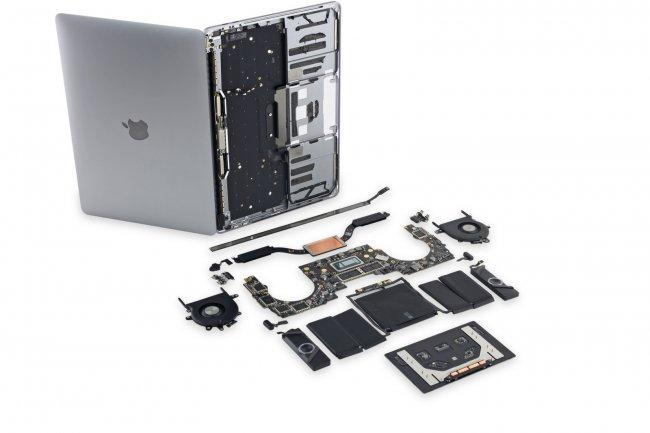 Le démontage du MacBook Propar iFixit révèle des grilles d'enceintes inutiles et une Touch bar difficile à remplacer.(Crédit iFixit)