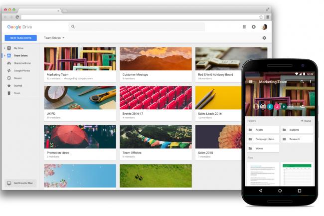 Team Drives de Google permet aux �quipes de collaborer et de partager de fa�on s�curis�e sur des documents, tant sur ordinateurs que mobiles. (cr�dit : Google)