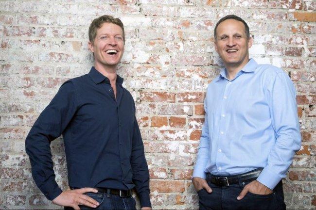 Tableau Software compte s'appuyer sur l'expertise d'Adam Selipsky (à droite, au côté du co-fondateur de Tableau Christian Chabot à gauche) acquise chez AWS pour se renforcer dans le cloud. Crédit: D.R.