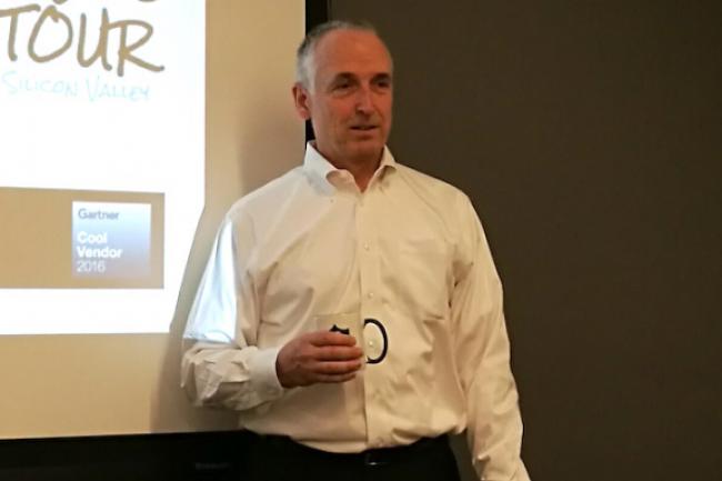 Brian Biles, CEO et cofondateur de Datrium, promet de mettre fin à l'ère du SAN avec des systèmes de stockage flash au plus près des machines virtuelles. (crédit : Serge Leblal)