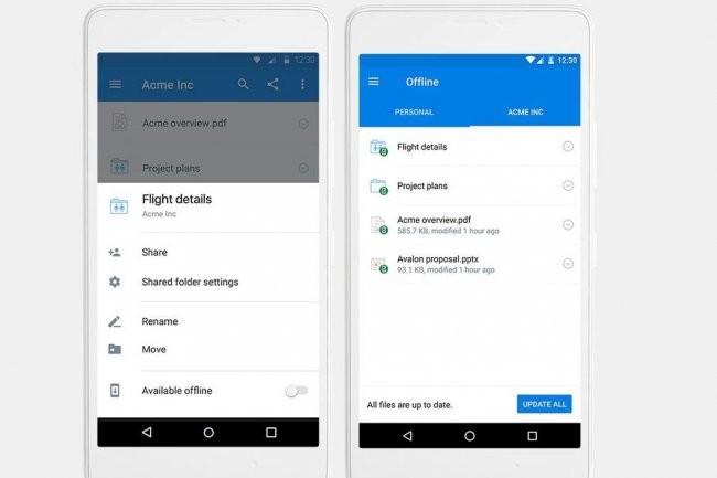 Une possibilité de synchronisation automatique pour une lecture offline s'ajoute à l'app mobile de Dropbox pour les utilisateurs des versions Pro et Business.