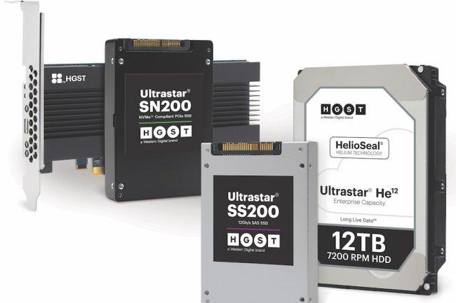 Les SSD Ultrastar SN 200 et SS 200 ainsi que le HDD à l'hélium Ultrastar He12 viennent renouveler la gamme datacenter de Western Digital.
