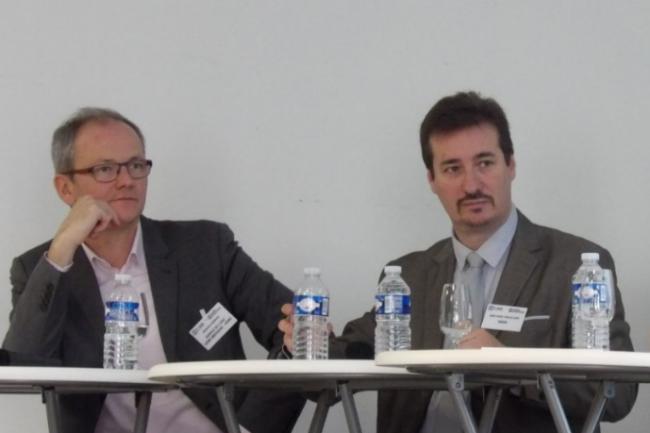 Jean-Marc Trouillard est intervenu le 8 décembre dernier à l'occasion de la matinée-débats IT Tour à Orléans à la CCI aux côtés d'Arnaud Garnier, vice-président de l'Adirc. (crédit : LMI)
