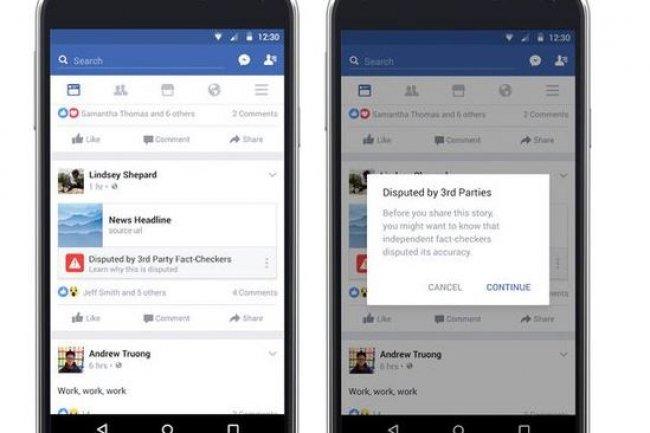 Facebook a commencé à tester son détecteur de fausses news aux Etats-Unis, avant son lanement progressif en Allemagne. Crédit: D.R.