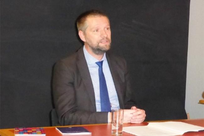 Le directeur général de l'Anssi, Guillaume Poupard, à l'occasion de sa conférence de presse mardi 24 janvier au FIC 2017. (crédit : Dominique Filippone)