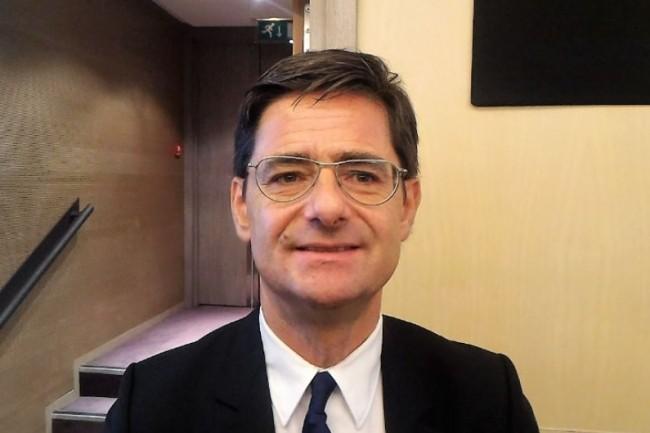 Nicolas Dufourcq, directeur général de Bpifrance, ce matin lors de sa présentation du bilan 2016 de l'établissement public. (crédit : D.F.)