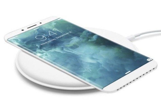 Cette représentation - non contractuelle - de l'iPhone 8 préfigure l'adoption de la recharge sans fil sur les smartphones de la pomme. (Crédit D.R.)