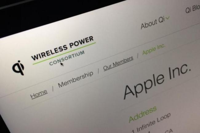 L'Apple fait officiellement partie des membres  du Wireless Power Consortium qui soutient le standard QI de transmission sans fil. (Crédit: D.R.)