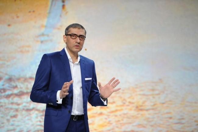 Le CEO de Nokia Rajeev Suri à Barcelone pour présenter les dernières avancées de la société finlandaise en 4.5, 4.9 et 5G. (crédit : Nokia)