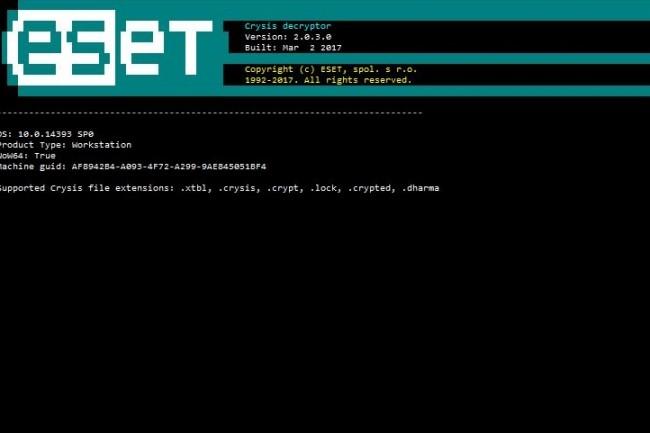 Les fournisseurs de sécurité dont Kaspersky et Eset ont mis à jour leurs outils pour permettre de déchiffrer les fichiers piégés par le ransomware Dharma. (crédit : D.R.)