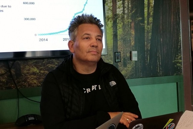 Base de données distribuée, CrateDB est montée jusqu'à 1 000 nœuds containers chez un client, selon Christian Lutz, CEO de la start-up. (crédit : S.L.)