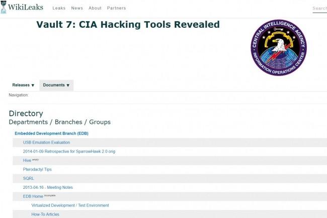 Une mine d'informations confidentielles comprenant l'existence d'exploits créés par la CIA et la NSA ont été mises en ligne par Wikileaks. (crédit : D.R.)