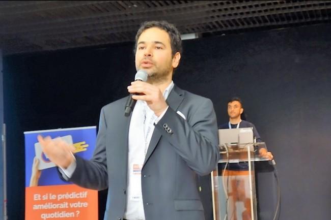 Jeremy Fain, président de Verteego, a présenté sur Big Data Paris 2017 une suite packagée de 5 briques open source populaires pour traiter la chaîne de valeur de la donnée. (crédit : LMI/MG)