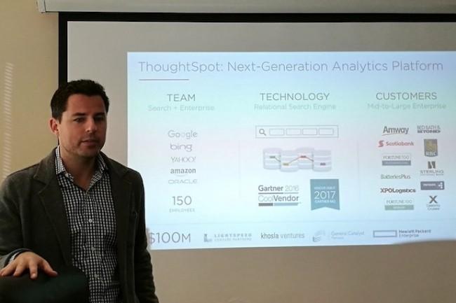 Pour aider ses clients à mieux exploiter leurs données, Scott Holden, CMO de ThoughtSpot, les encourage à étendre sa solution BI à leurs partenaires et clients. (Crédit S.L.)