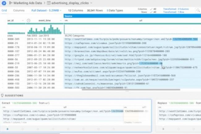 Google Cloud Dataprep s'appuie sur la technologie de wrangling de la start-up Trifacta. (crédit : D.R.)