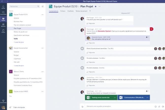 Avec Teams, Microsoft permet de partager et de synchroniser depuis un point unique l'ensemble des documents relatifs à un projet.