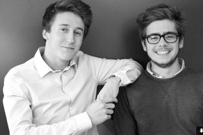 Etienne Moreau (à gauche) et Mathieu Geiler (à droite), sont les deux fondateurs de l'école de code Le Wagon à Lyon. crédit: D.R.