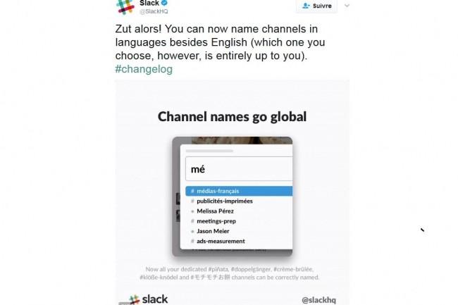 Slack est désormais disponible en Français. (crédit: D.R.)