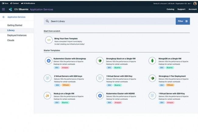 Cloud Automation Manager, annoncé par IBM sur InterConnect 2017 (à Las Vegas, du 19 au 23 mars) apporte aux développeurs un accès en self-service avec des packs d'automatisation pré-construits dans un environnement multi-clouds. (crédit : D.R.)