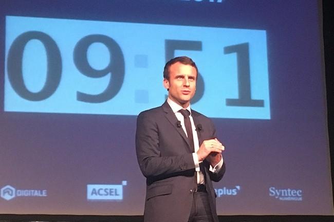Pour Emmanuel Macron, le numérique doit devenir un outil démocratique. (crédit : O.B.)