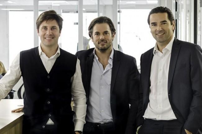 Stanislas de Rémur (au milieu) a co-fondé Oodrive en 2000 avec CédricMermilliod (à gauche) et Edouard de Rémur (à droite). crédit : D.R.