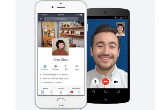 Les fonctions de chat et visioconférence de Workplace de Facebook sur mobile. (crédit : Facebook)