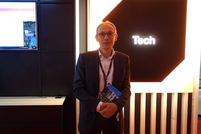 Le directeur général adjoint adjoint en charge d'Orange Business Services, Thierry Bonhomme monte aussi au créneau pour promouvoir un produit comme Cyberfiltre. (Crédit S.L.)
