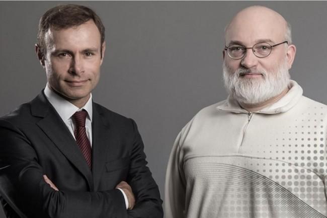 Raphaël Gorgé (à gauche), CEO de Groupe Gorgé, et André-Luc Allanic, responsable de la R&D de Prodways et fondateur de Phidias Technologies. (crédit : D.R.)