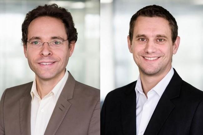 Thomas Bourgeois (à gauche), CEO de Dhatim, a co-fondé la société en 2008 avec Pierre de Chastellier, CTO (à droite) et Marc Rouanne. (crédit : D.R.)