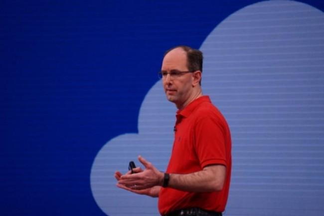 Scott Guthrie, vice-président exécutif de Microsoft parlant de la platefome cloud Azure de la société le 10 mai à la conférence Build à Seattle. (crédit : Blair Hanley Frank / IDGNS)