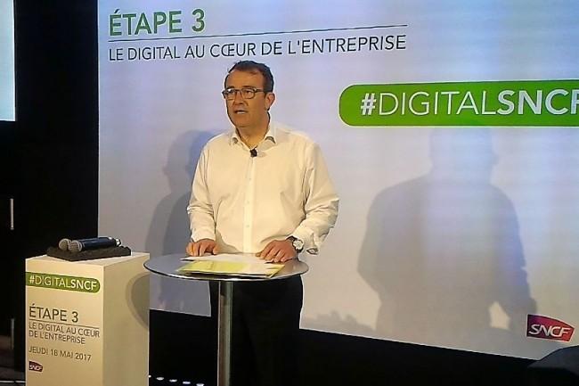 Benoît Tiers, directeur général digital et systèmes d'information de la SNCF, est arrivé l'été dernier au sein de l'entreprise ferroviaire. (crédit : D.F.)