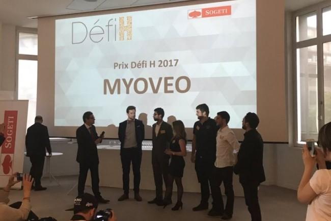 Myoveo et son projet de prothèse myoélectrique a remporté le Prix Défi H 2017. (crédit : Sogeti)