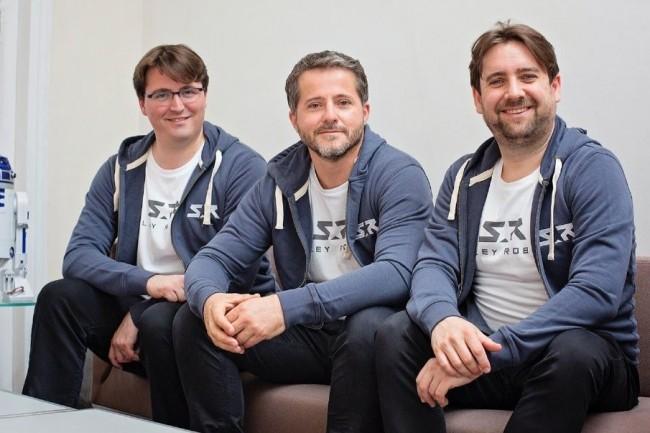 La start-up Stanley Robotics cofondée par Clément Boussard, Aurélien Cord et Stéphane Evanno, a développé un robot autonome qui permet aux  aéroports de gagner jusqu'à 50% de place en plus dans leurs parkings. Crédit. D.R.