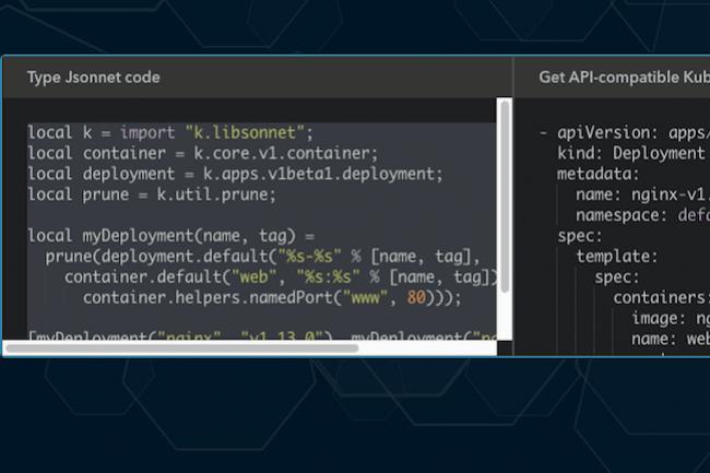 Jsonnet offre une excellente passerelle et fait mieux qu'un bon JSON pour modéliser certaines valeurs pour manipuler la structure.