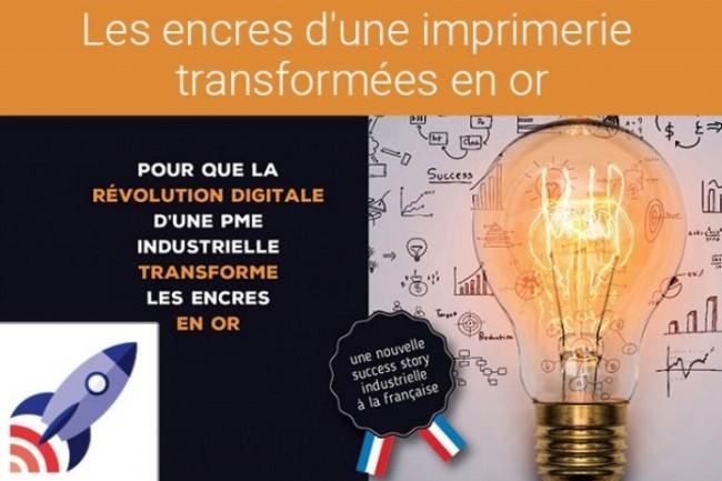 Les encres d'une imprimerie transformées en or, le projet soutenu par Adira dans France Entreprise Digital 2017. (crédit : D.R.)